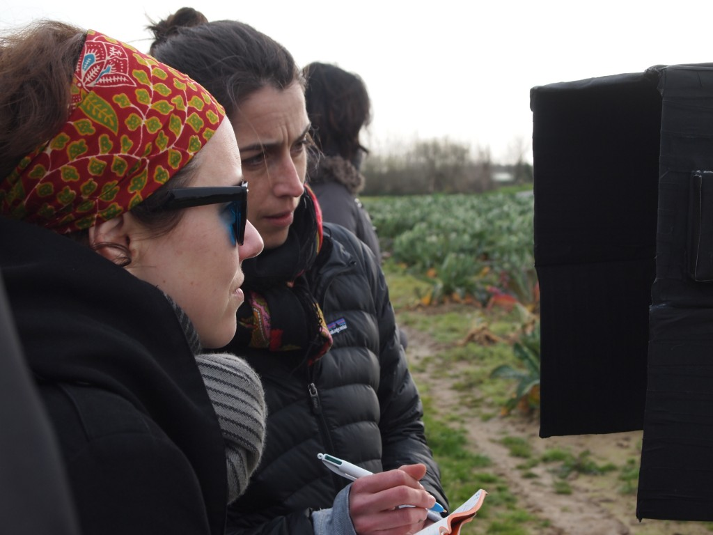 Josephine Derobe and Gaelle Denis during Stereo 3D test shoots - CCFL 2014